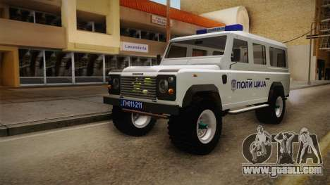 Land Rover Defender 110 Police for GTA San Andreas right view