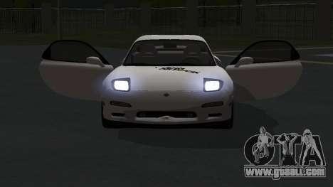 Mazda RX-7 1991 RUS for GTA San Andreas back view