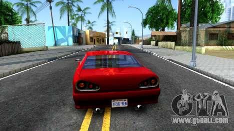 Standart Elegy IVF for GTA San Andreas back left view