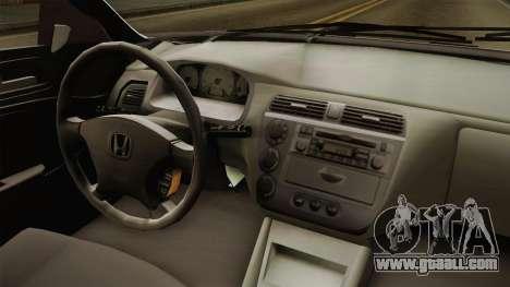 Honda Civic İ-Vtec for GTA San Andreas inner view