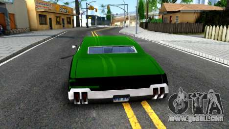 Sabre Drift Green Strips for GTA San Andreas back left view