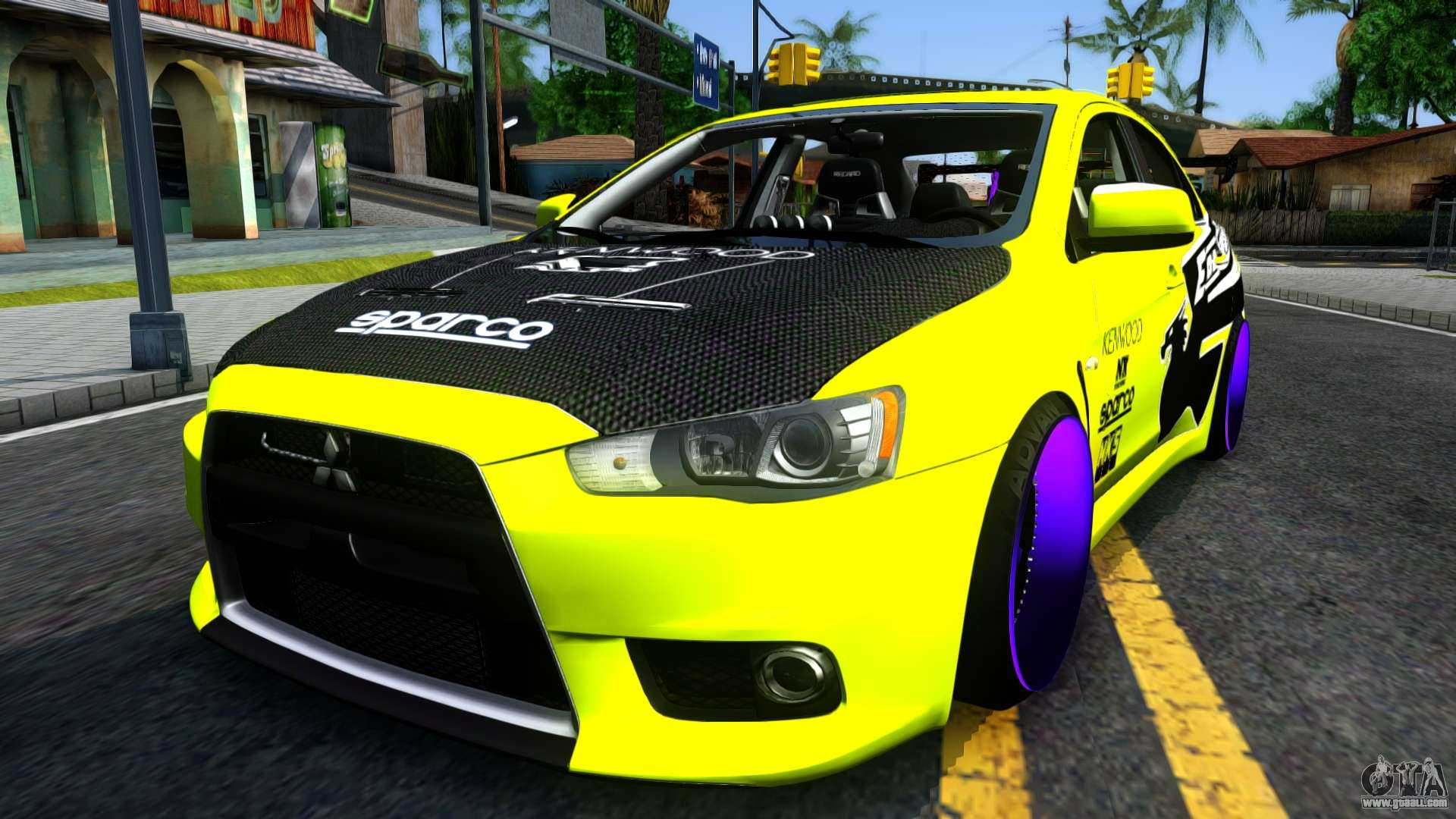 mitsubishi lancer evolution x tuning for gta san andreas. Black Bedroom Furniture Sets. Home Design Ideas