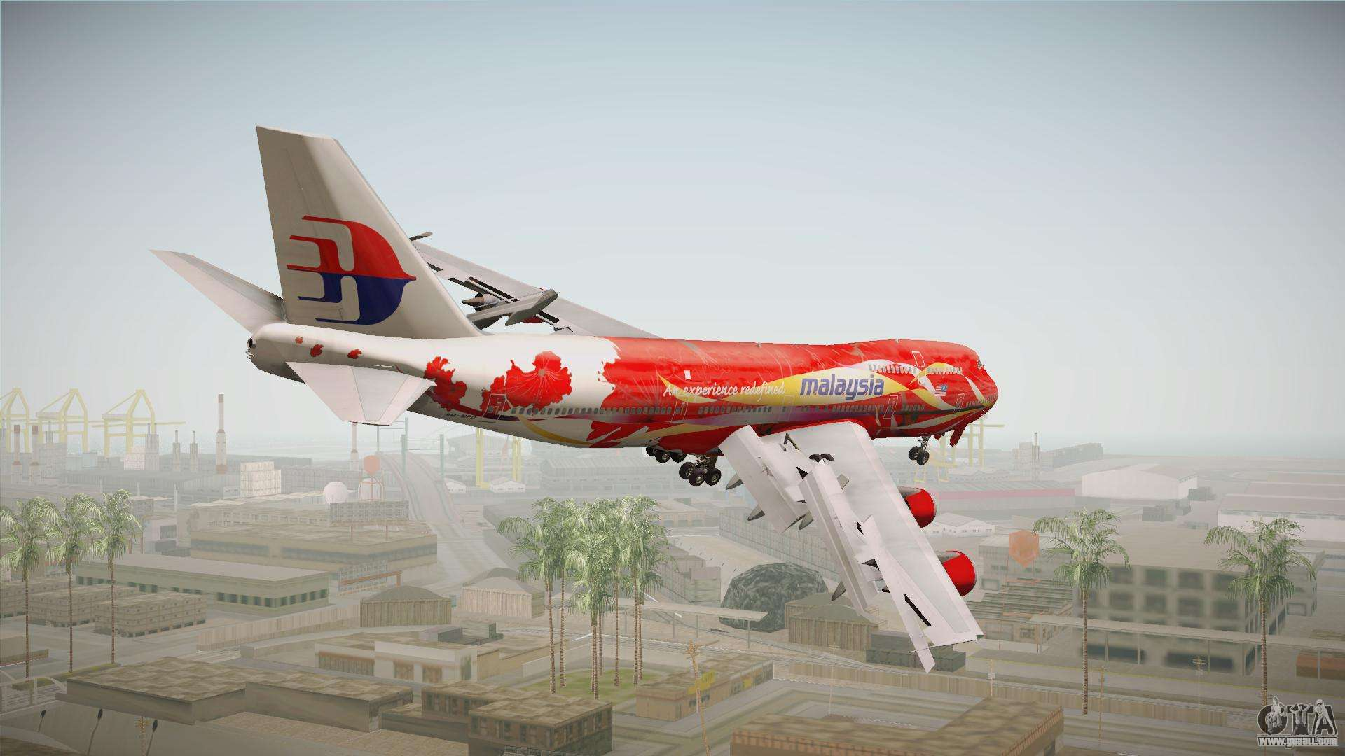Boeing 747 Malaysia Airlines Hibiscus Livery for GTA San Andreas