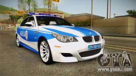 BMW M5 E60 Saobracajna Policija for GTA San Andreas