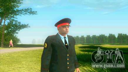 Police captain Russia in his tunic for GTA San Andreas