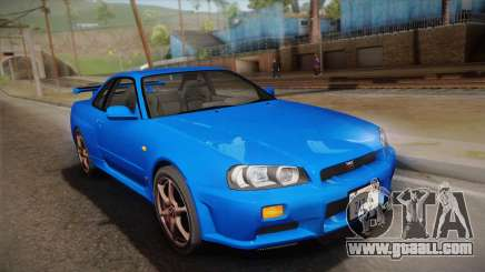 Nissan Skyline GT-R R34 Mk.X for GTA San Andreas
