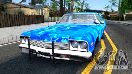 Dodge Monaco 1974 Blue Star for GTA San Andreas