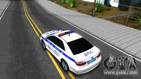 Toyota Camry Russian Police for GTA San Andreas back view
