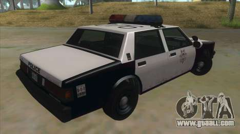 HD LVPD Police Cruiser for GTA San Andreas right view