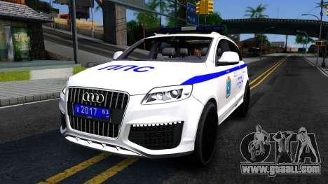 Audi Q7 Russian Police for GTA San Andreas