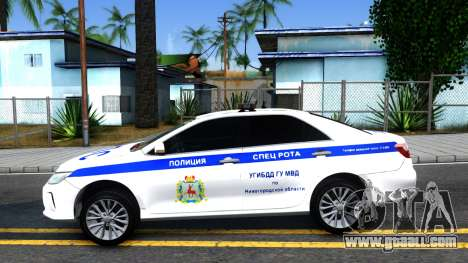 Toyota Camry Russian Police for GTA San Andreas left view