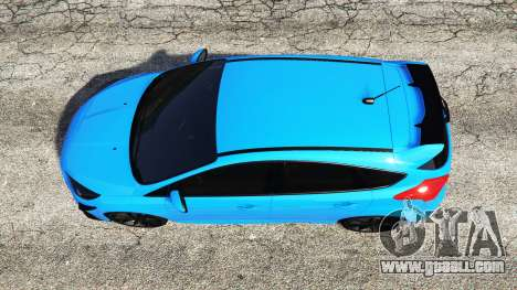 GTA 5 Ford Focus RS (DYB) 2017 [replace] back view