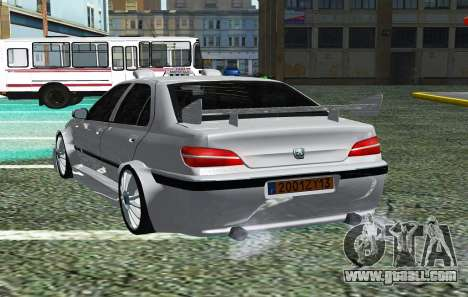 PEUGEOT 406 SL TAXI 2 for GTA San Andreas back left view