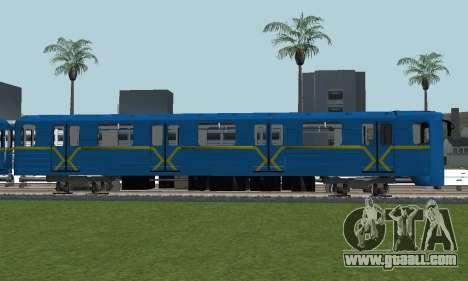 Metrostav type E-KM for GTA San Andreas back view