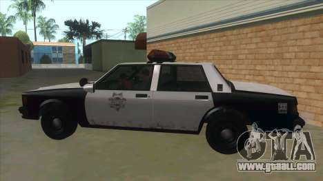 HD LVPD Police Cruiser for GTA San Andreas left view