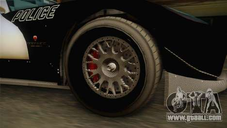 GTA 5 Bravado Banshee Supercop IVF for GTA San Andreas back view