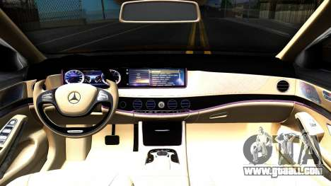 Mercedes-Benz S-class W222 Wald for GTA San Andreas inner view
