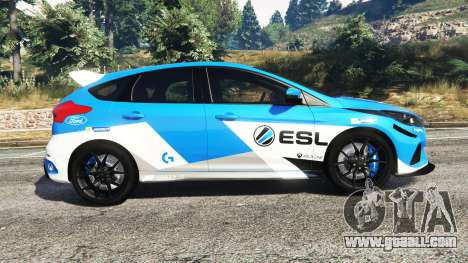 GTA 5 Ford Focus RS (DYB) 2017 [add-on] left side view