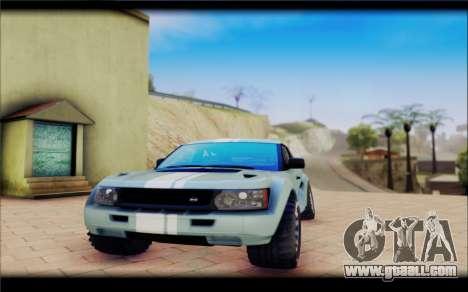 Maps Bowler Nemesis for GTA San Andreas right view