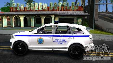 Audi Q7 Russian Police for GTA San Andreas left view