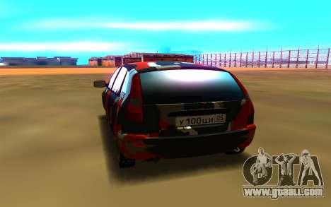 Lada Kalina 1117 for GTA San Andreas back view