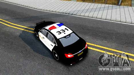 Ford Taurus LASD Interceptor for GTA San Andreas back view
