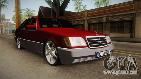 Mercedes-Benz W140 Projekt for GTA San Andreas right view
