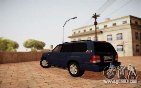 Lexus LX470 for GTA San Andreas back left view