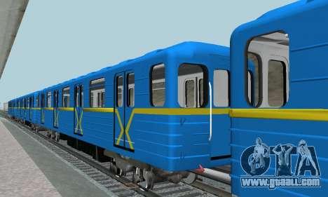 Metrostav type E-KM for GTA San Andreas side view