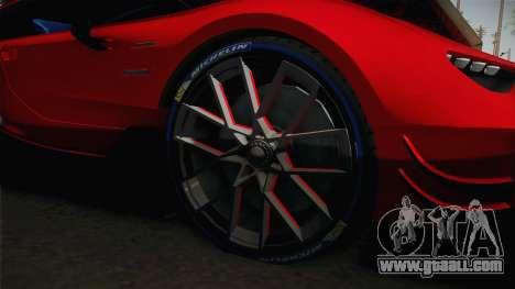 Bugatti Vision GT for GTA San Andreas back view