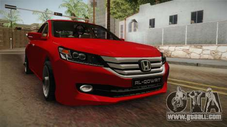 Honda Accord 2015 Cover for GTA San Andreas