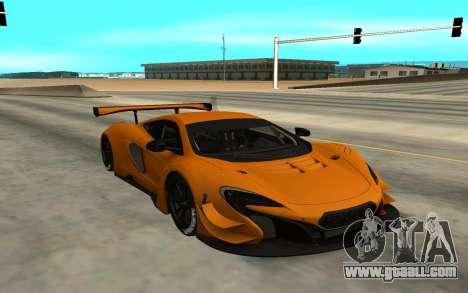 McLaren 650S GT3 for GTA San Andreas