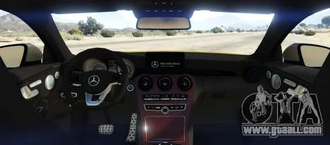 GTA 5 Mercedes C63S AMG Coupe rear left side view