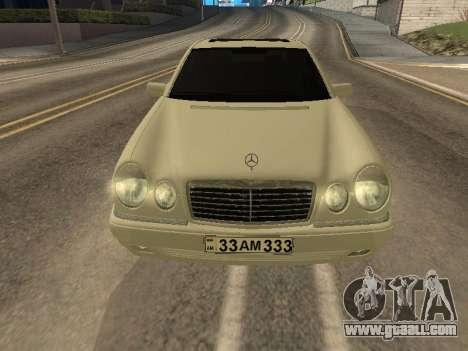 Mercedes-Benz E420 Armenian for GTA San Andreas back left view