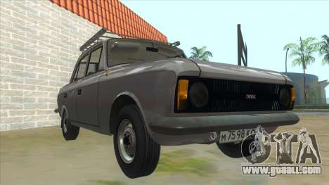 Moskvich 412 for GTA San Andreas back view