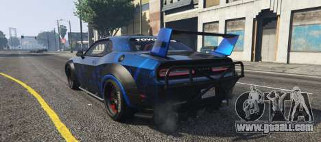 GTA 5 Dodge Challenger 2015 (Super Tuning) left side view