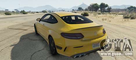 GTA 5 Mercedes C63S AMG Coupe left side view