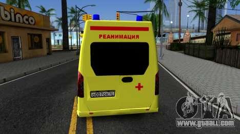GAZelle Next Resuscitation for GTA San Andreas back left view