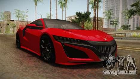 Honda NSX 2017 for GTA San Andreas right view