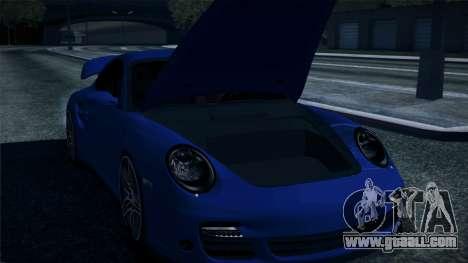 Porsche 911 Turbo 2007 for GTA San Andreas upper view