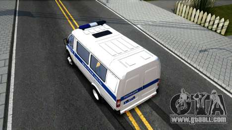 Gazelle 2705 The Police for GTA San Andreas back view