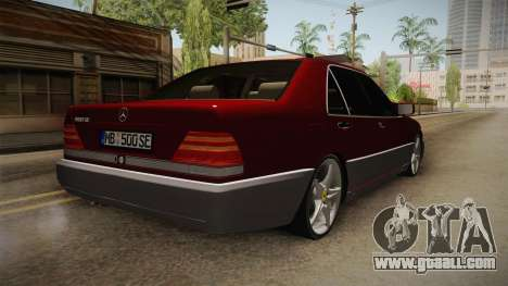 Mercedes-Benz W140 Projekt for GTA San Andreas back left view