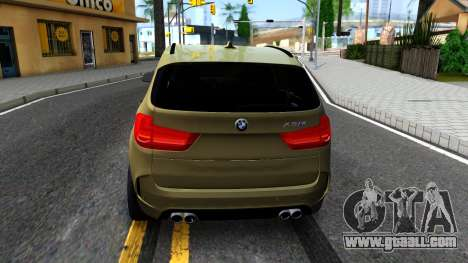 BMW X5M for GTA San Andreas back left view