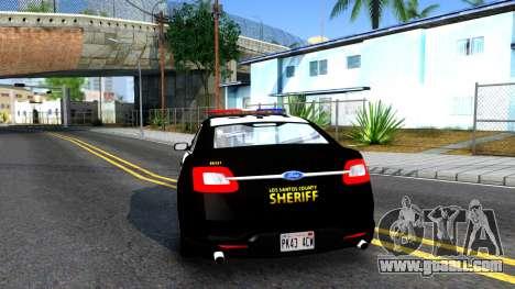 Ford Taurus LASD Interceptor for GTA San Andreas back left view