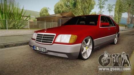 Mercedes-Benz W140 Projekt for GTA San Andreas