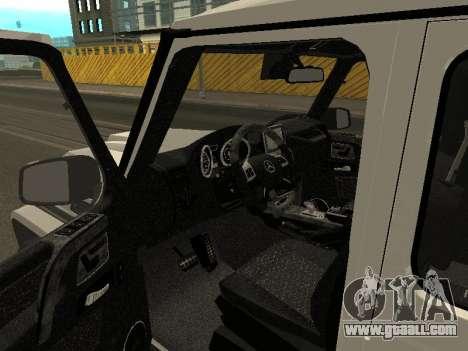Mercedes-Benz AMG G65 Armenian for GTA San Andreas inner view