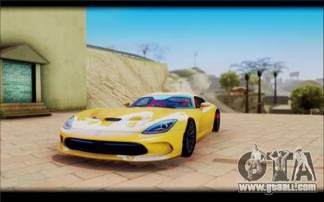 Dodge Viper for GTA San Andreas right view