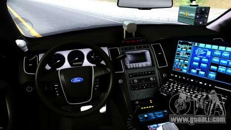 Ford Taurus LASD Interceptor for GTA San Andreas inner view