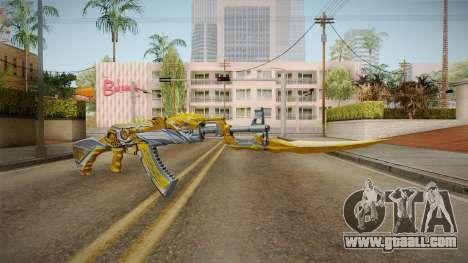 Cross Fire - AK-47 Beast Noble Gold v2 for GTA San Andreas second screenshot
