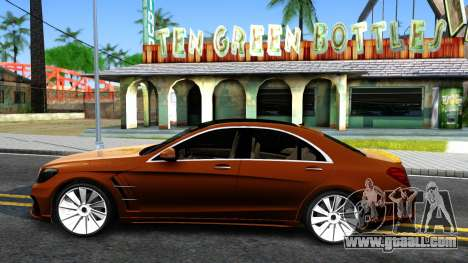 Mercedes-Benz S-class W222 Wald for GTA San Andreas left view